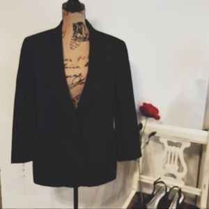 Vtg Pendleton black stripe blazer size 14